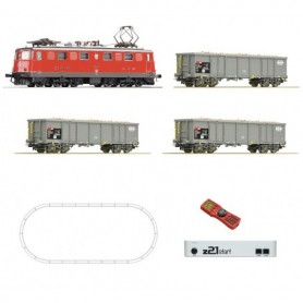 Roco 51296 Digital starter set z21: Electric locomotive Ae 6/6 and goods train that carries beets, SBB