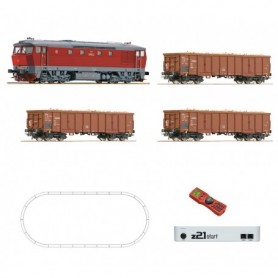 Roco 51294 Digital starter set: Diesel locomotive T 478 and freight train, CSD