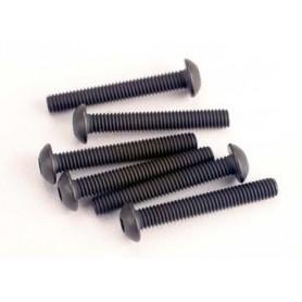 Traxxas 2580 Skruv, insex, kuller, M3x20mm, 6 st