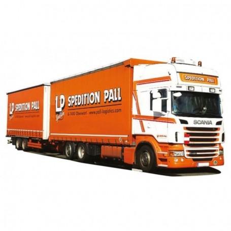 "AMW 54403 Bil & Släp Scania 09 Topline Jumbo ""LP Spedition Pall"""