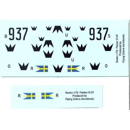 FCA 72-108 Dekalark för flygplan, Fokker D.VIIF Swedish Army Air Force