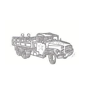 Eko 4024 GMC 2.5 T M-35 Lastbil Militär