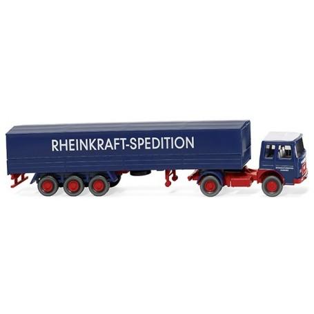 """Wiking 51701 Flatbed tractor-trailer (MAN) """"Rheinkraft Spedition"""""""