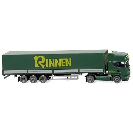 "Wiking 51804 Flatbed tractor-trailer (Scania R420 Topline) ""Rinnen"""