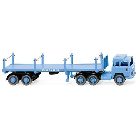 "Wiking 51846 Stanchion trailer truck (Magirus 235 D) ""Klöckner"""