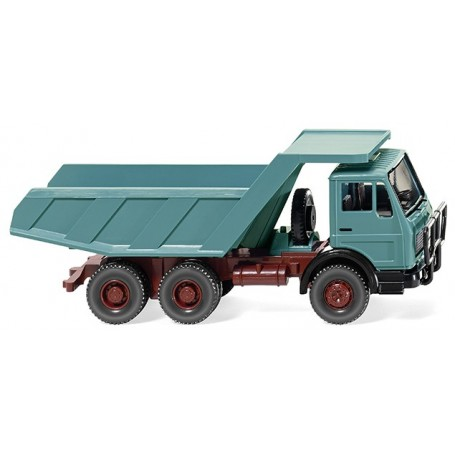 Wiking 67105 Tipper trailer (MB NG) blue turquoise, 1973