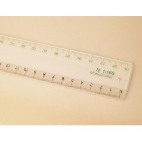 Auhagen 99006 Linjal N, längd 30 cm