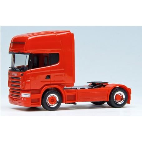 Herpa 580355 Dragbil Scania R TL 2004, 2-axlig, röd med svart chassie