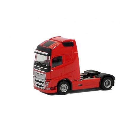 Herpa 590673 Dragbil Volvo GL FH 16 XL 2013, 2-axlig, röd med svart chassie