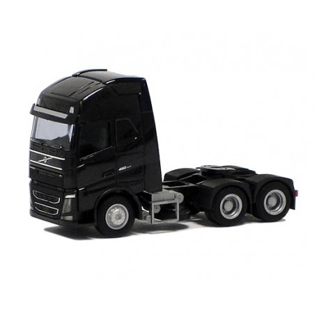 Herpa 590716 Dragbil Volvo GL FH XL 2013, 3-axlig, svart (AWM)
