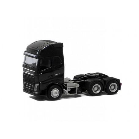 Herpa 590723 Dragbil Volvo GL FH XL 2013, 3-axlig, svart (AWM)