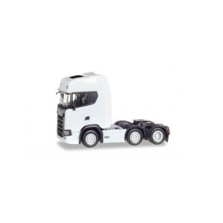 Herpa 307543 Scania CR 20 HD 6x2 rigid tractor, white