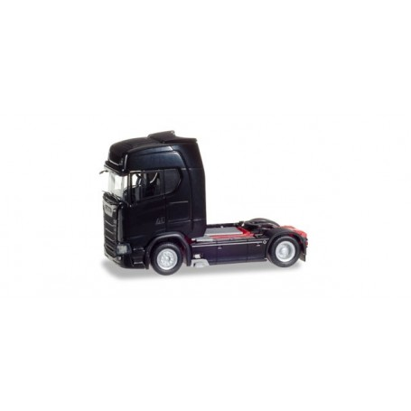 Herpa 307468 Scania CS 20 HD V8 rigid tractor with sun shield, black