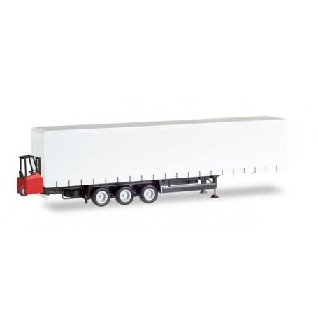 Herpa 076784 Schmitz Curtain canvas trailer, 3-axle with forklifter