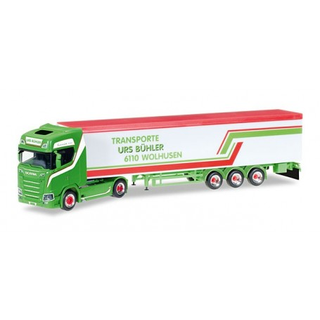 """Herpa 307604 Scania CS 20 HD V8 walking floor semitrailer """"Urs Bühler"""" (CH)"""