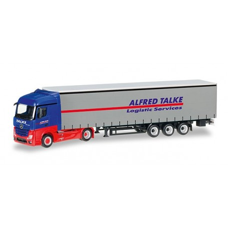 "Herpa 307499 Mercedes Benz Actros Streamspace curtain canvas semitrailer ""Talke"""