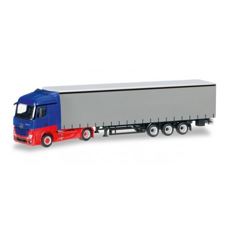 Herpa 012997 Minikit: Mercedes Benz Actros Streamspace curtain canvas semitrailer, unprinted