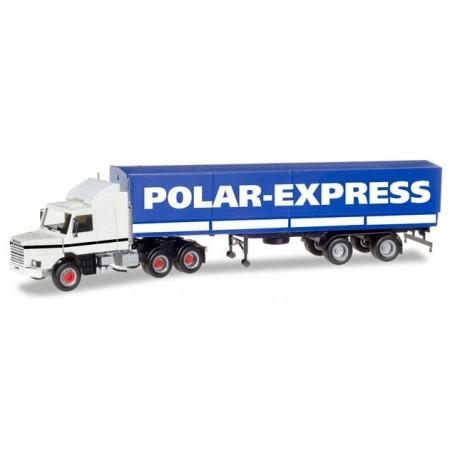 "Herpa 307512 Scania 142 Hauber 6x4 canvas semitrailer ""Polar Express"" (FIN)"
