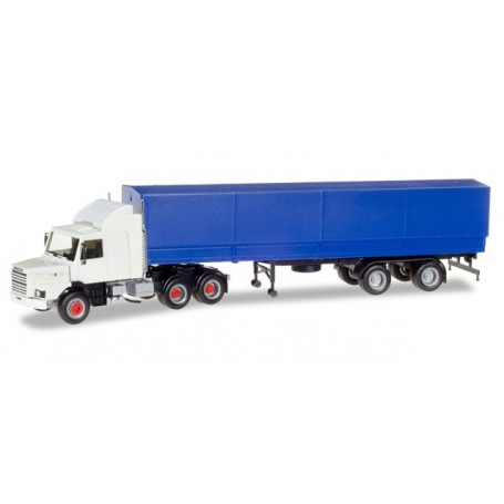 Herpa 307529 Scania 142 Hauber 6x4 canvas semitrailer, unprinted