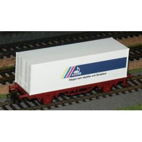 """Märklin 4481.1 Containervagn SJ """"Alcro"""" Svensk"""