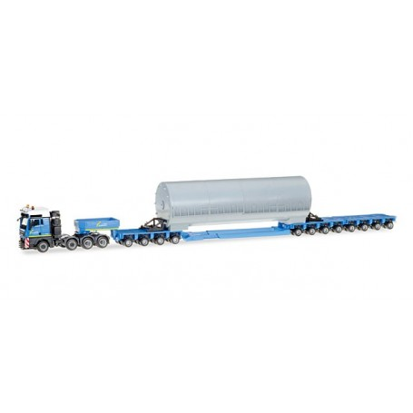 "Herpa 307338 MAN TGX XXL low boy semitrailer with load ""Bautrans"" (A)"