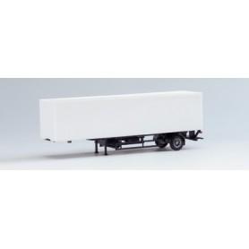 Herpa Exclusive 630005 Container Skåp, 1-axlig, skåp vitt, chassie svart (AWM)