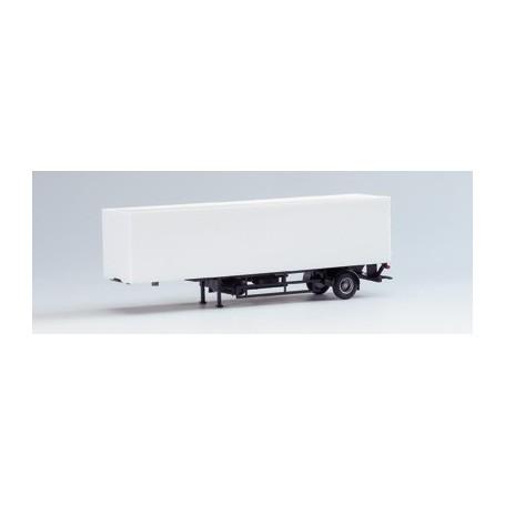Herpa 630005 Container Skåp, 1-axlig, skåp vitt, chassie svart (AWM)