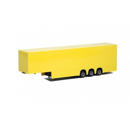 Herpa 630154 Skåptrailer Euro, 3-axlig, gul