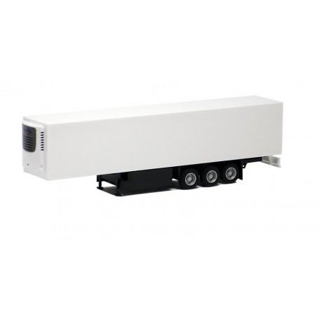 "Herpa 630522 Eurotrailer Kyl ""Schmitz"", 3-axlig, vit med svart chassie (AWM)"