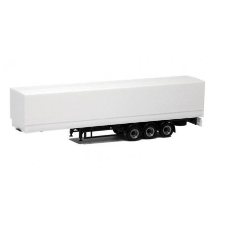 Herpa 640113 Eurotrailer 3-axlig, vit