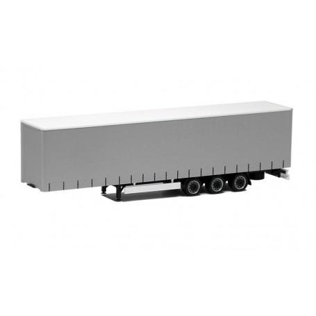 Herpa 640413 Megatrailer, 3-axlig, silver med svart chassie