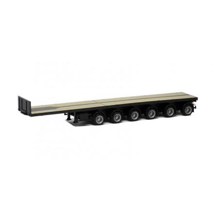 Herpa 671313 Ballastrailer 6-axlig, svart