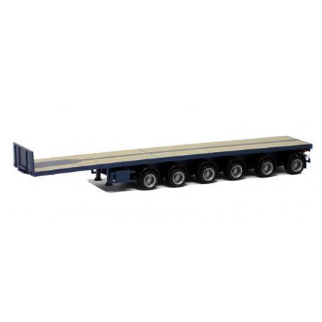 Herpa 671314 Ballastrailer 6-axlig, mörkblå