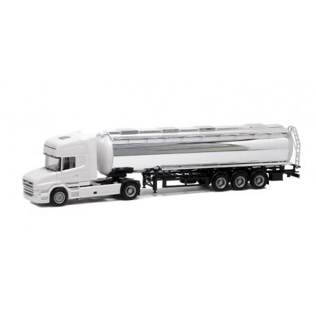 Herpa 920391 Bil & Tanktrailer Scania Hauber R Topline