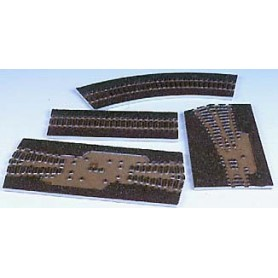 Tillig 86509 Rälsbädd, brun, för Tillig flexskena 950 mm med trä-slipers