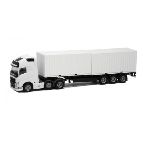 Herpa 924474 Volvo GL FH XL 2013 6x2 med 2x20' container