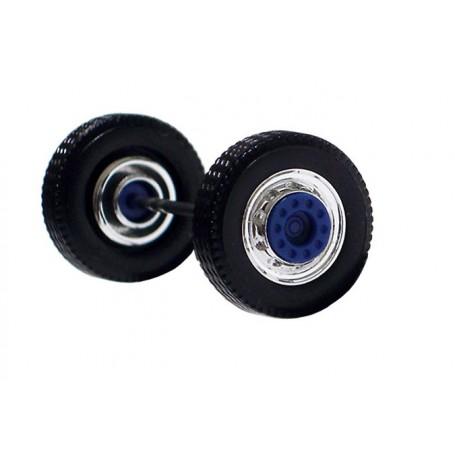 Herpa 690105A Däck/hjulaxel, framaxel, 1 st, kromad/blå