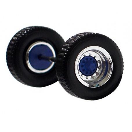 Herpa 690105C Däck/hjulaxel, traileraxel, 1 st, kromad/blå