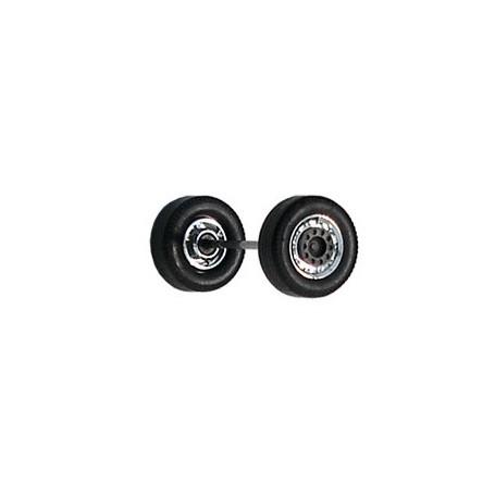 Herpa 690101E Däck/hjulaxel, framaxel/stödaxel MEDI, 1 st, kromad/svart