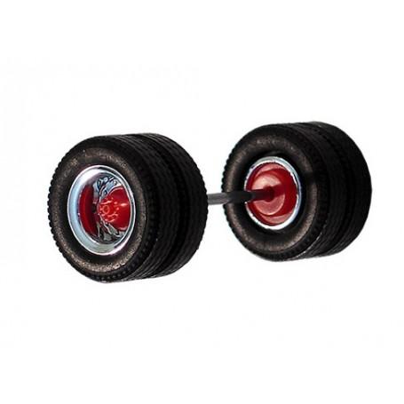 Herpa 690102F Däck/hjulaxel, drivaxel MEDI Hypoid, 1 st, kromad/röd