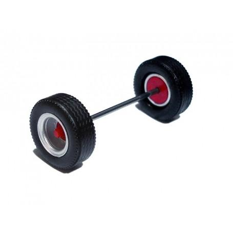 Herpa 690152G Däck/hjulaxel, traileraxel MEDI, 1 st, silver/röd