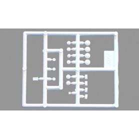 Herpa 691512 Extralysen, vita (AWM), 4 förpackningar