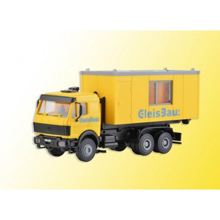 Kibri 16310 LP charger loader with GleisBau office container