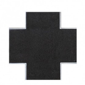 Vollmer 8261 Street plate asphalt, x-crossing, L 15 x W 15 cm