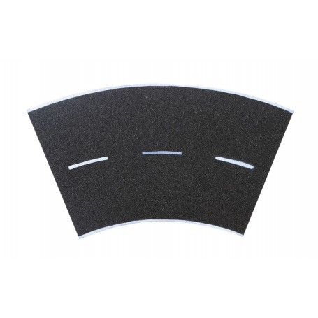 Vollmer 8266 Street plate asphalt, 45°-curve, radius 15 cm