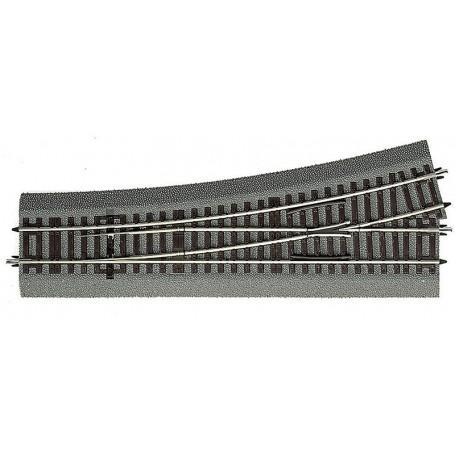 Roco 42538 Växel vänster Wl15, längd 230 mm, radie 873,5 mm
