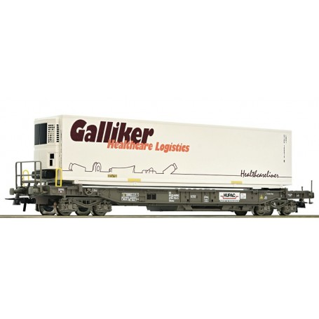 """Roco 76750 Containervagn typ Hupac """"Galliker"""""""