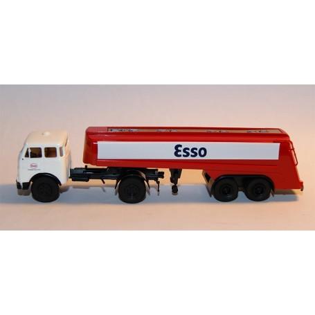 "Brekina 97810 Bil & Tanktrailer MAN 10.212 FS ""Esso Dortmund"""