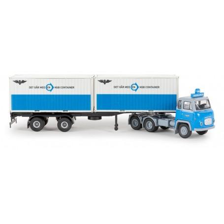 "Brekina 85186 Bil & Containertrailer Scania LB 76 ""NSB"""