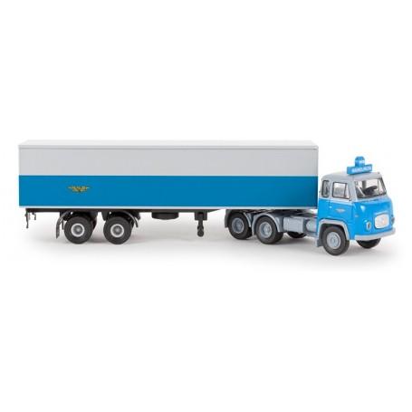 """Brekina 85185 Bil & Trailer Scania LB 76 """"NSB - Haukeliruta"""""""